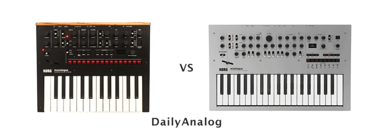 Korg Monologue vs Minilogue