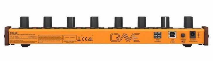 the behringer crave back panel
